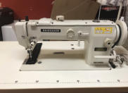 KM-640BL Longer Arm Walking Foot. 13 1/2 inches between the needle to right hand side. Large side loading bobbin.  Call 902 543 8593 or email info@bridgewatersewingcentre.com for more info